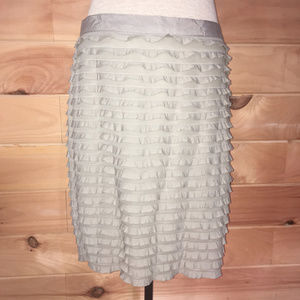 Banana Republic Stretch Ruffe Tiered Pencil Skirt